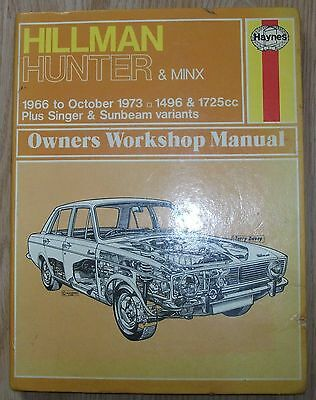 Hillman Hunter and Minx 1966 to 77 Haynes 033 Manual