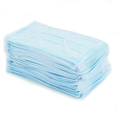 50 Disposable Quality Surgical Face Salon Cleaning Flu Dust Mask Zika Precaution