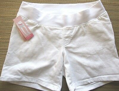 *New* Liz Lange Maternity Size Small Under the Belly White Denim Shorts!