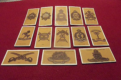 WW I Players Cigarette Cards Colonial & Indian Army Badges