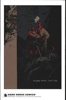 Hellboy Mini Lithograph Mint Condition by Mike Mignola