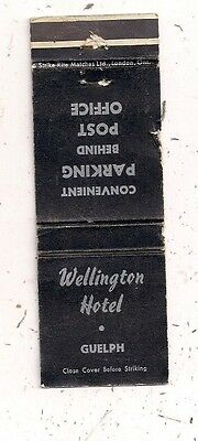 Wellington Hotel Guelph ON Ontario Matchcover 110816