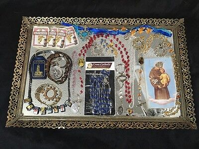 Christian CATHOLIC Jewelry Lot - Necklaces Earrings Pins Bracelets Pins C