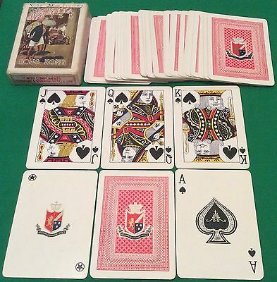 ANTIQUE c1920 * HONG KONG & SHANGHAI HOTELS * WIDE PLAYING CARDS Peninsula Hotel