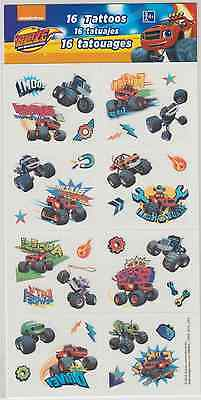 Sheet of Blaze and Monster Machines Tattoos (8 Perforated Squares), Party Favors