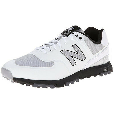 New Balance 574 Mens Spikeless Golf Shoes - White / Black