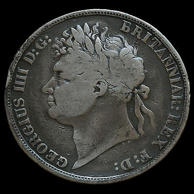 1821 George IV Milled Silver Secundo Crown – A/F #2