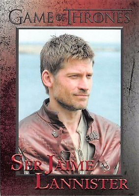JAMIE LANNISTER (Nikolaj Coster-Waldau) / Game Thrones Season 5 Base Card #43