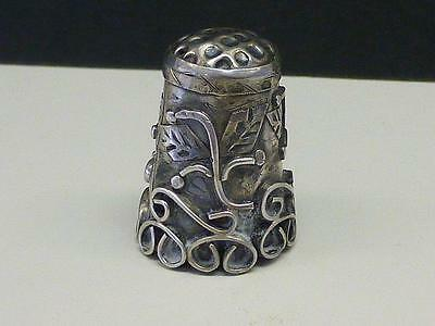 Estate Applied Design Mexico Sterling Silver Thimble 4.8 grams