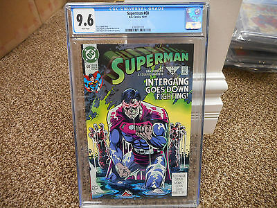 Superman 60 cgc 9.6 1st appearance of Agent Liberty DC 1991 TV movie MINT WHITE