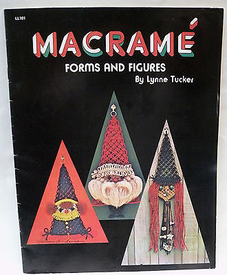 Vintage 1975 Macrame Forms and Figures Pattern Book Owl Witch Santa Fish