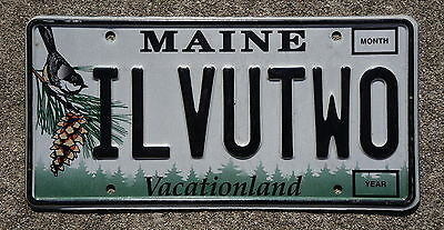 Maine Vanity I love You 2 License Plate - ILVUTWO