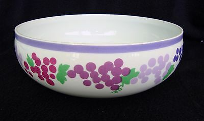 "Wonderful GRAPES by Block Vegetable Bowl, Large 8.5"" Hearthstone, Portugal"