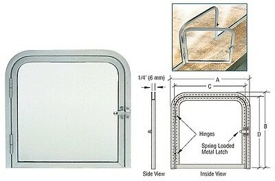 """Satin Anodized 11-3/8"""" x 11-11/16"""" Package Slot with Left Hinged Clear View Door"""