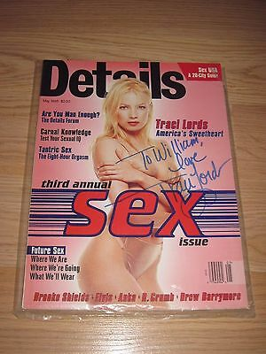 Tracy/Traci Lords In Person Signed 1995 Details Magazine/Free Shipping!