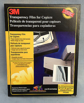 3M Transparency Paper Backed Film For Copiers PP2410 58 Sheets
