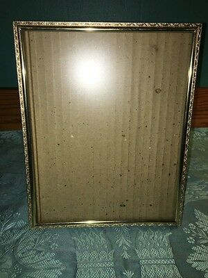 Vintage Gold Metal Embossed Photo Picture Frames 8x10 Shabby Chic