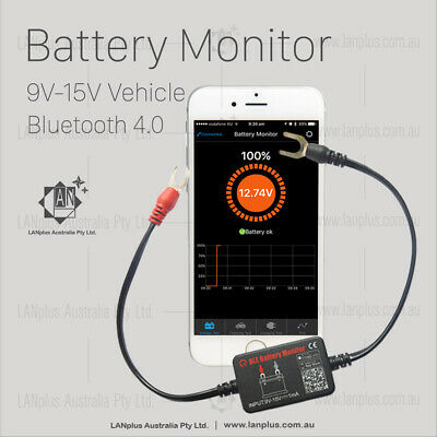 12V vehicle Battery Monitor via bluetooth 4.0 Voltage Meter  caravan Auto Alarm