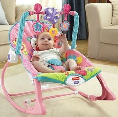 Fisher-Price Infant to Toddler Rocker Easy Converts Vibrations New