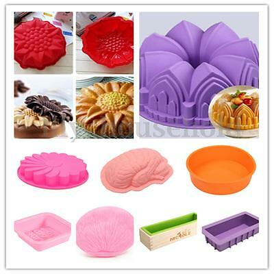 3D Silikon Kuchenform Schokolade Backform Brotform Backen Form Fondant Mould