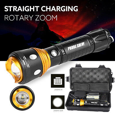 Super Bright XM-L T6 LED Adjustable Focus Flashlight Torch Zoomable Shadowhawk