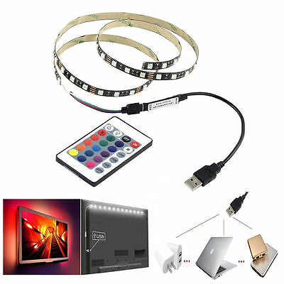 5v usb 5050 rgb led strip light multi color tv back lighting kit24 5v usb 5050 rgb led strip light multi color tv back lighting kit24 mozeypictures Images