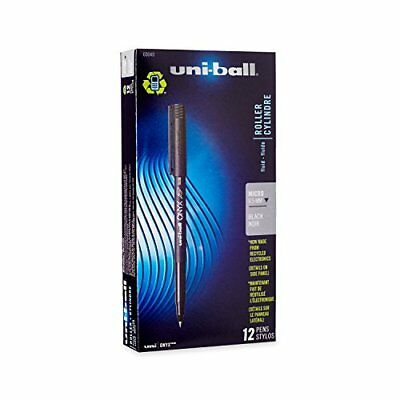 uni-ball ONYX Rollerball Pen, Micro Point (0.5mm), Black, 12 Count New