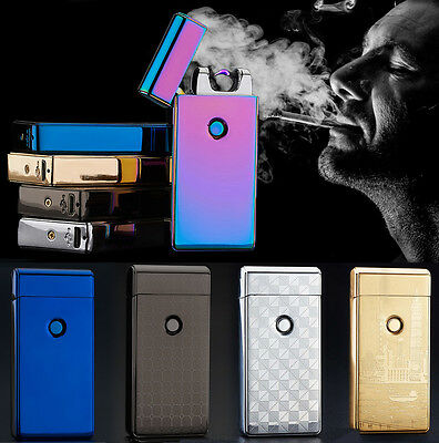 Flameless Cigarette USB Electric Lighter Windproof Dual Arc Rechargeable Plasma