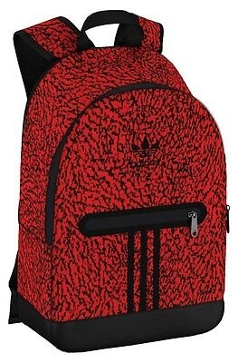 Adidas Originals Backpack Essential Knit Graphic One Size Vivid Red S13   Black