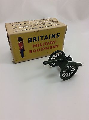 Vintage Britains Military Equipment Royal Artillery field Gun #1263 boxed