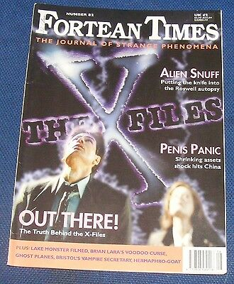Fortean Times Ft82 August/september 1995 - The Truth Behind The X-Files