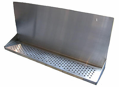 "Draft Beer Tower Wall Mt Drip Tray 36""  Long # DTWM36SS - Up to 12 faucet holes"