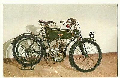Motorcycles - a photographic postcard of a 1902 Kerry Motor Cycle