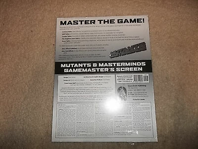 Mutants and Masterminds 2nd Ed Gamemaster Screen SW