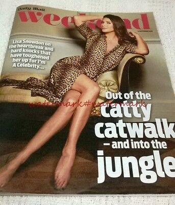LISA SNOWDON - Cover & Photo Feature in WEEKEND Magazine, 12th November 2016