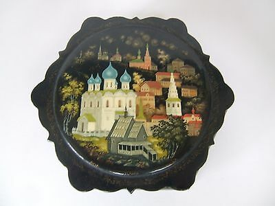 19th Century Russian Lacquer papier mache box. Signed. Beautiful