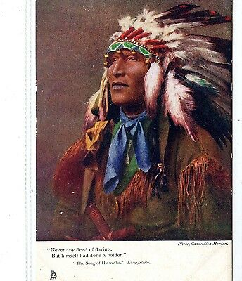 """Ethnic American Red Indian.  """"never Any Deed Of Daring."""