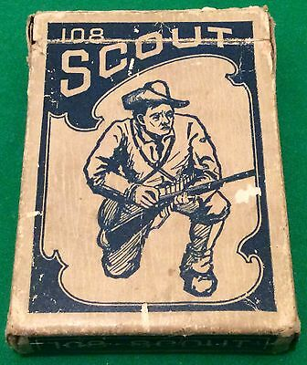 ANTIQUE c1920 USPC  ** 108 SCOUT **  WIDE PLAYING CARDS  DOLPHINS ? Free UK Post