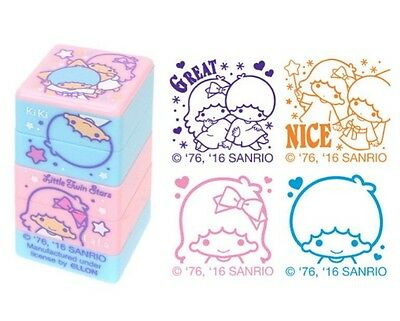2016 Sanrio Little Twin Stars 4 Style PVC Rubber Stamper Stamps