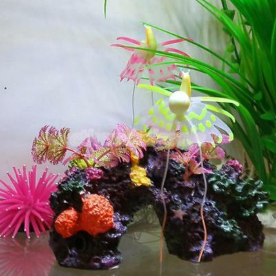 Escargot Artificiel En Silicone Décoration Ornement Pour Aquarium Poisson Rose