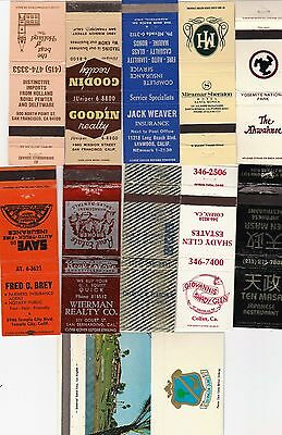 Lot Of 20 Different California Matchbook Covers.  #12
