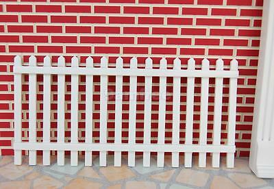 12th Single White Picket Fence Dolls House Miniature Fairy Garden Accessory