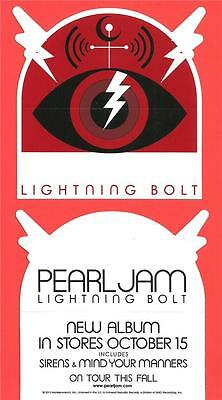 PEARL JAM Lightning Bolt US Promo Only Sticker Die-Cut MINT