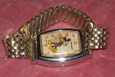 Vintage 1940's Ingersoll Mickey Mouse Wrist Watch