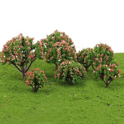 10pcs Flowers Tree Model Train Railway Park Architecture Spring Scenery HO OO