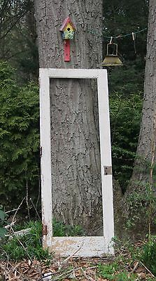 ANTIQUE WOODEN DOOR FRAME w/ OLD PAINT FOR DECORATING PHOTO STUDIO LANDSCAPE ETC