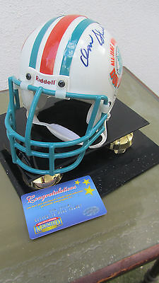 Miami Dolphins Don Shula Autographed Mini Helmet Limited Edition With COA