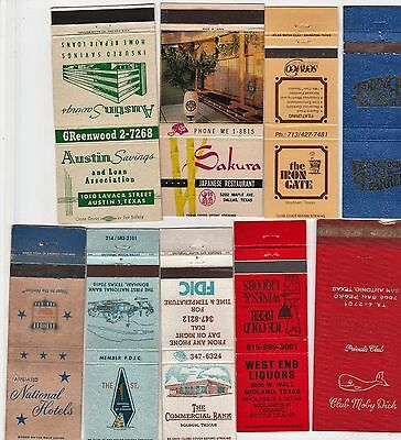Lot Of 18 Different Texas Matchbook Covers.  #3