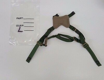 Gentex Ach 4 Point Replacement Chin Strap With Hardware L/xl New Msa