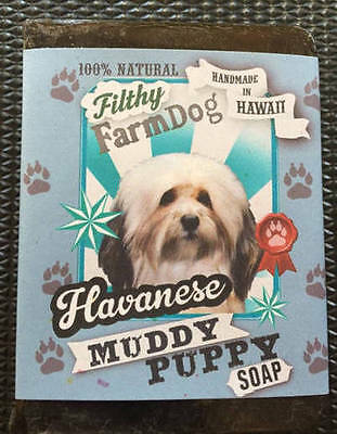 Havanese / Bar of Dog Soap / Fun Graphics / Unique Gift / All Natural